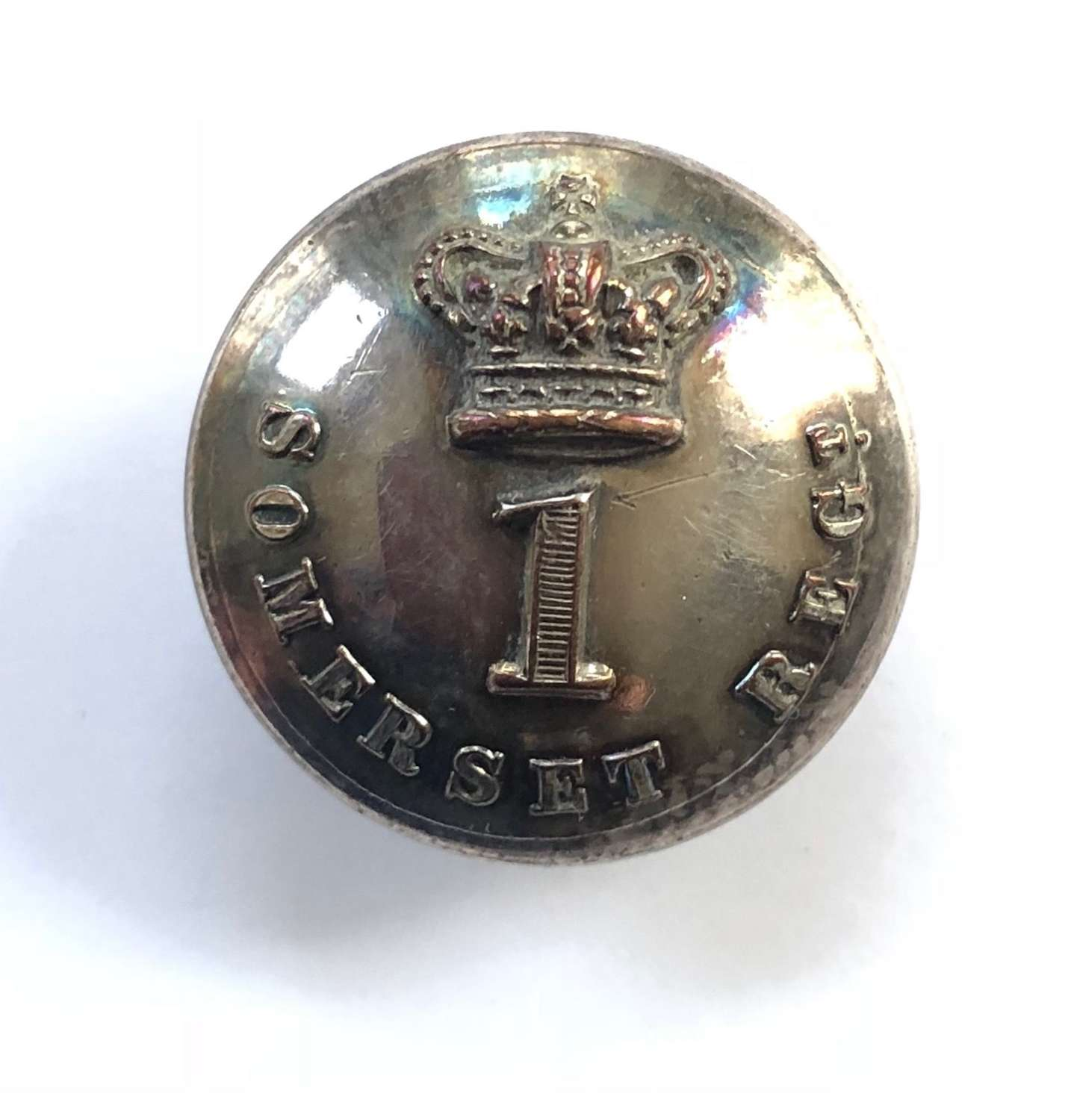 1st Somerset Militia Victorian Officer's coatee button