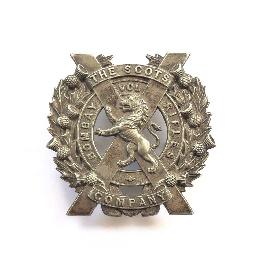 Scots Company. Bombay Volunteer Rifles glengarry badge circa 1914-22
