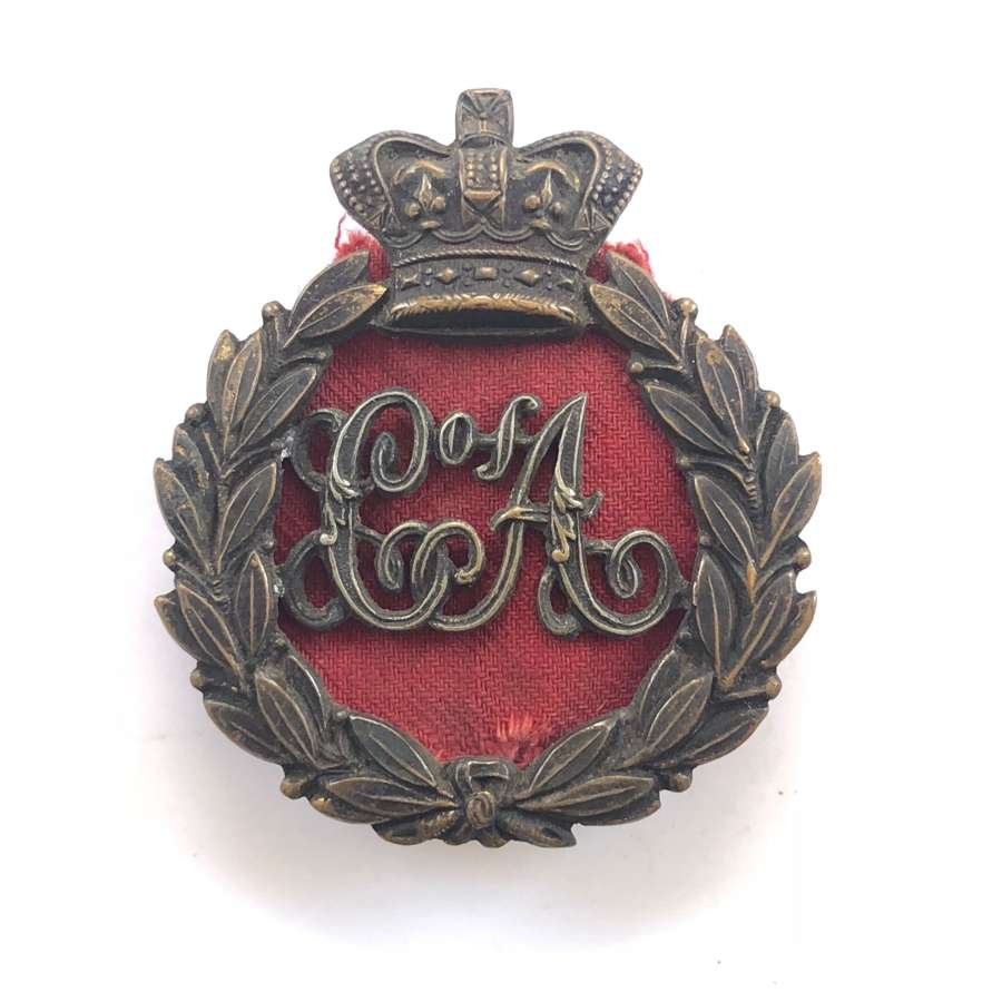 Corps of Armourers Victorian cap badge.