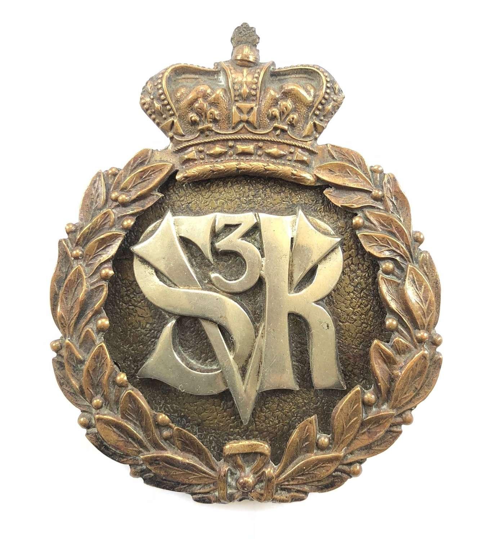 3rd Suffolk Rifle Volunteers Victorian pouch belt plate