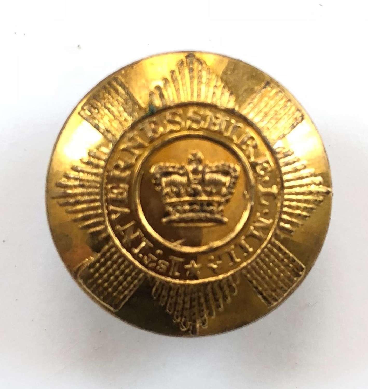 1st Invernesshire Local Militia Georgian Officer's coatee button