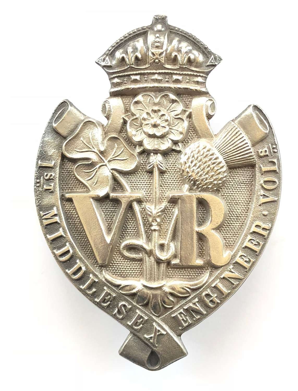 1st Middlesex Engineer Volunteers head-dress badge circa 1860