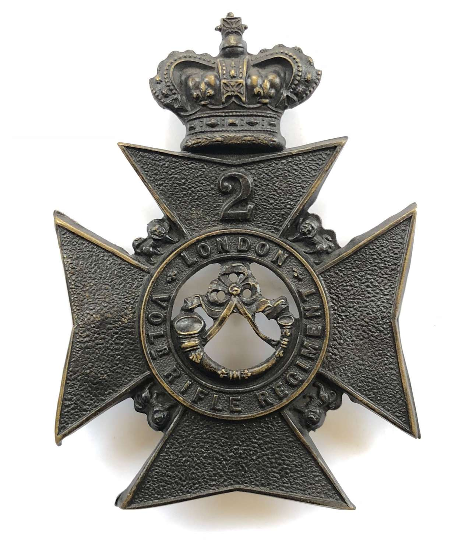 2nd London Volunteer Rifle Regiment Victorian OR's  helmet plate
