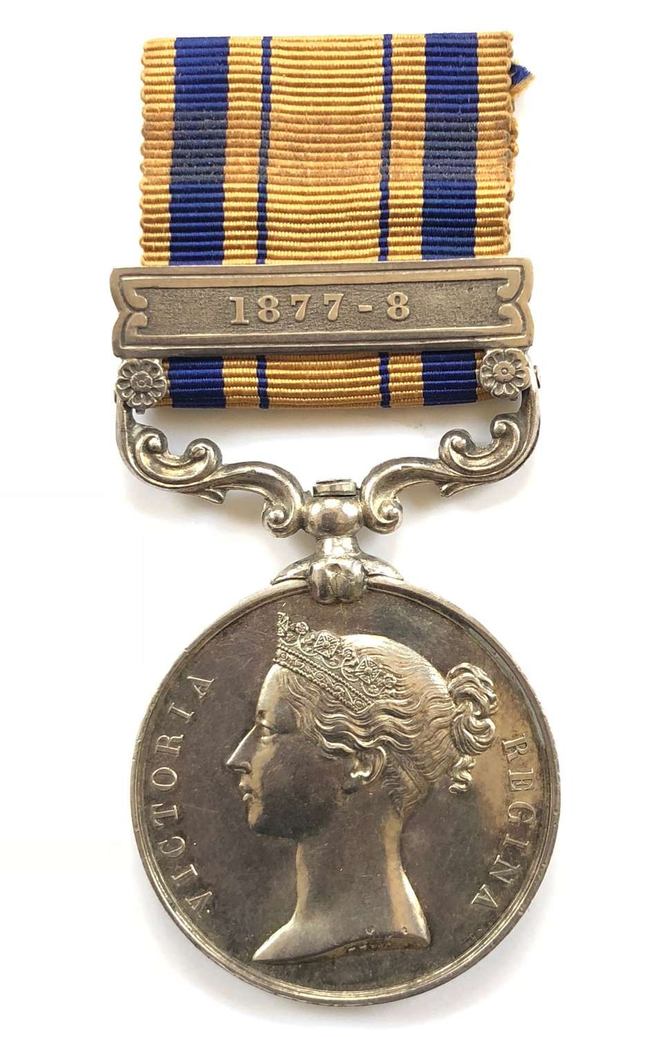 90th Foot Zulu War South Africa Medal, clasp '1877-8'