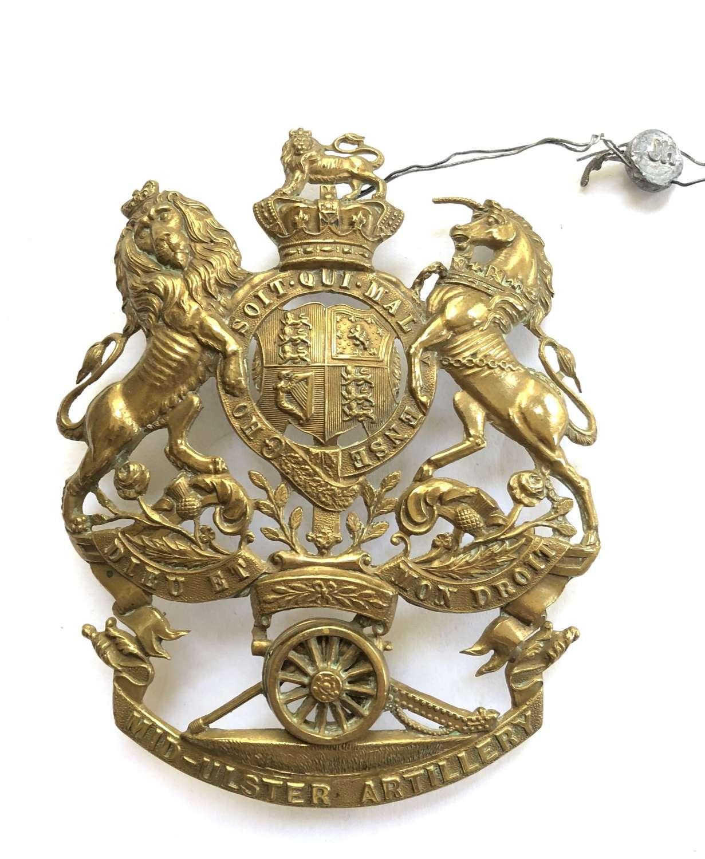Mid-Ulster Artillery Victorian Officer's helmet plate c1889-1901