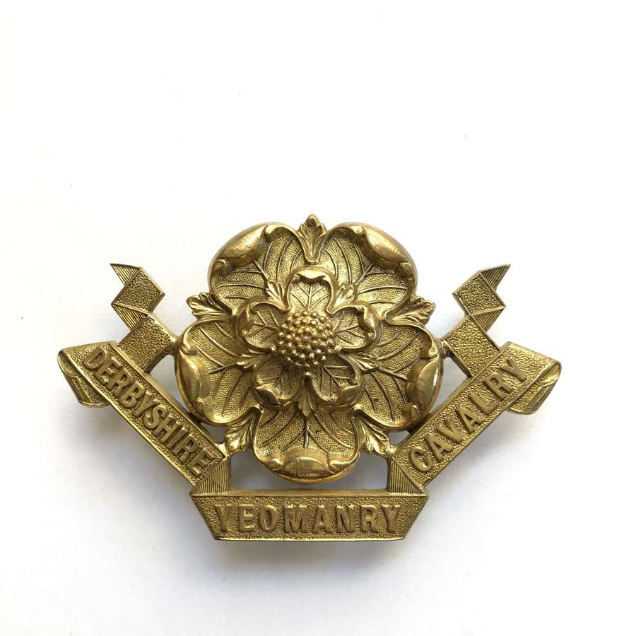 Derbyshire Yeomanry Cavalry Victorian Officer's sabretache ornament