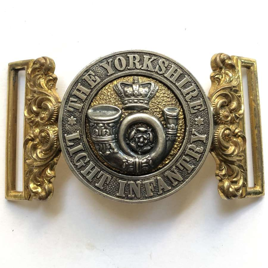 The Yorkshire Light Infantry Victorian Officer's waist belt clasp