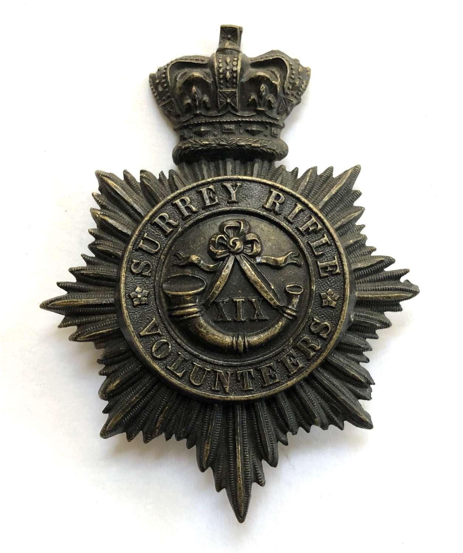 19th (Lambeth) Surrey Rifle Volunteers Victorian OR's shako plate