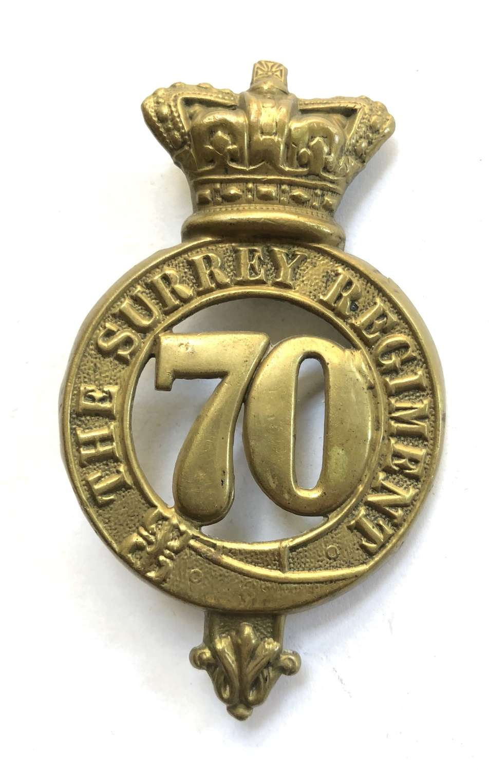 70th (The Surrey) Regiment of Foot OR's glengarry badge c1874-81