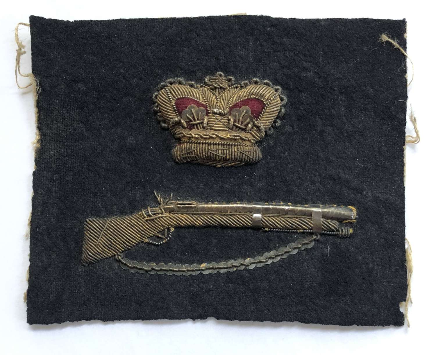 Royal Navy bullion Marksman rate or trade badge