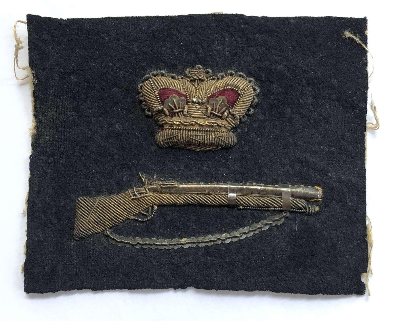Royal Navy bullion Marksman rate or trade badge