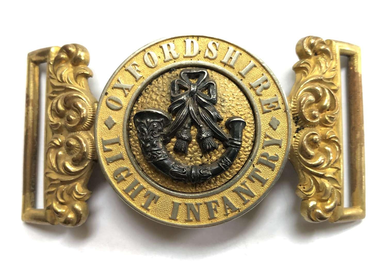 Oxford Light Infantry Victorian Officer's waist belt clasp 1881-1900