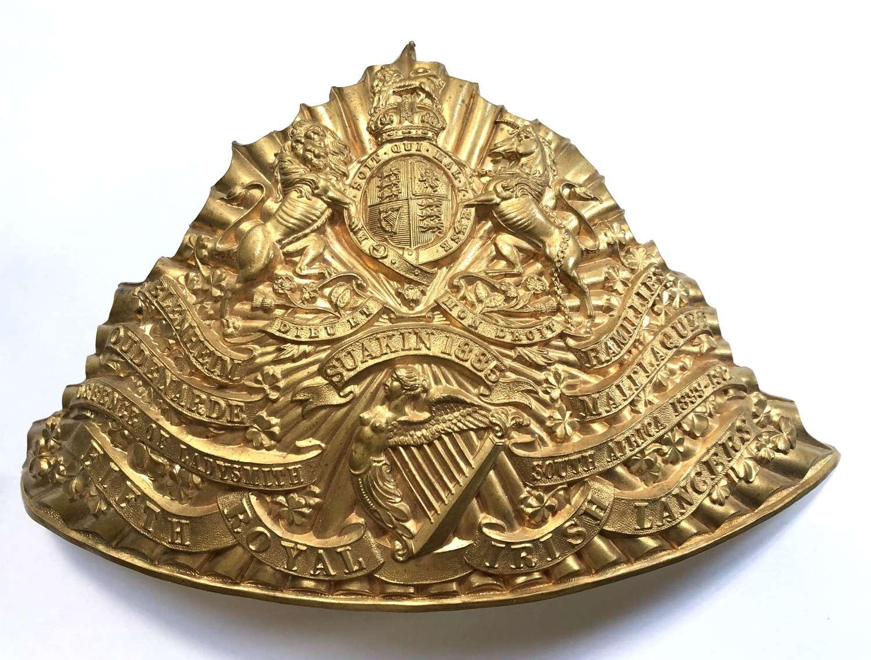5th Royal Irish Lancers OR's lance cap plate circa 1905-14