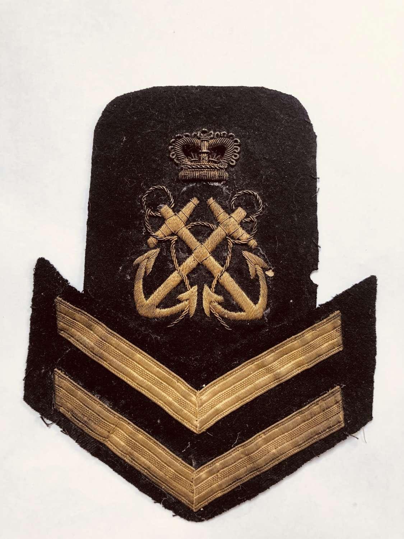 Royal Navy Petty Officer 1st Class rank badge