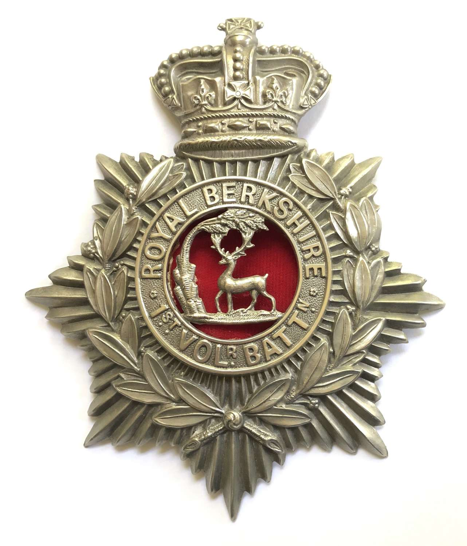 1st (Reading) VB Royal Berkshire Regiment Victorian helmet plate