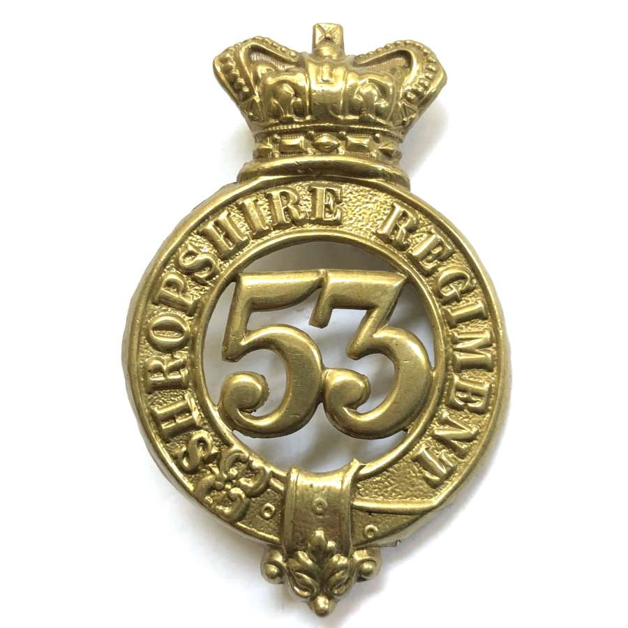 53rd (Shropshire) Regiment of Foot Victorian glengarry badge
