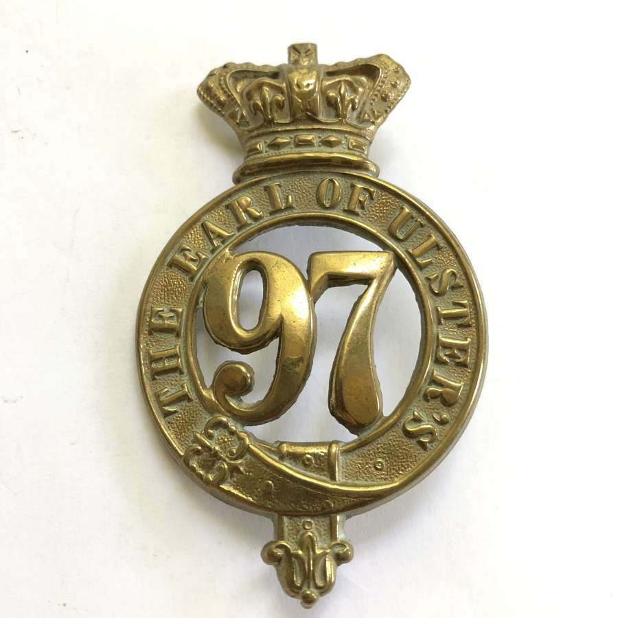 97th (Earl of Ulster's) Regiment, Victorian OR's glengarry badge
