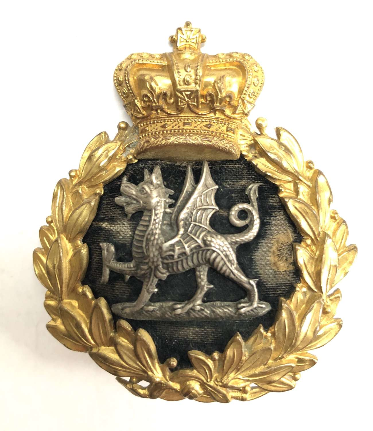 South Wales Borderers Victorian Officer's forage cap badge