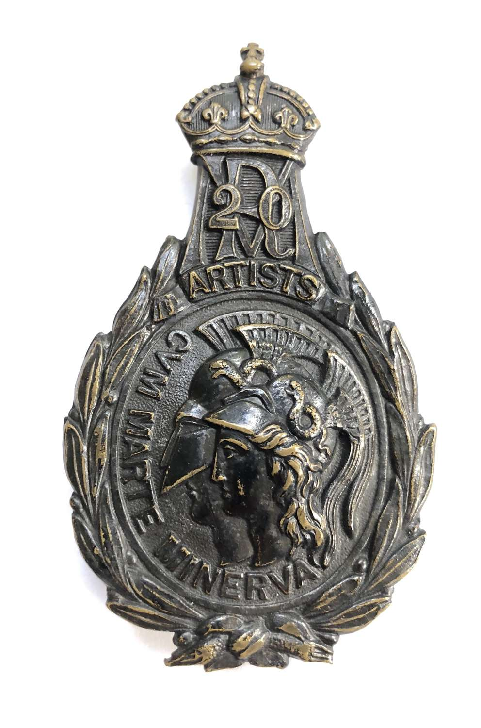 20th Middlesex (Artists) Rifle Volunteers post 1880 pouch belt plate