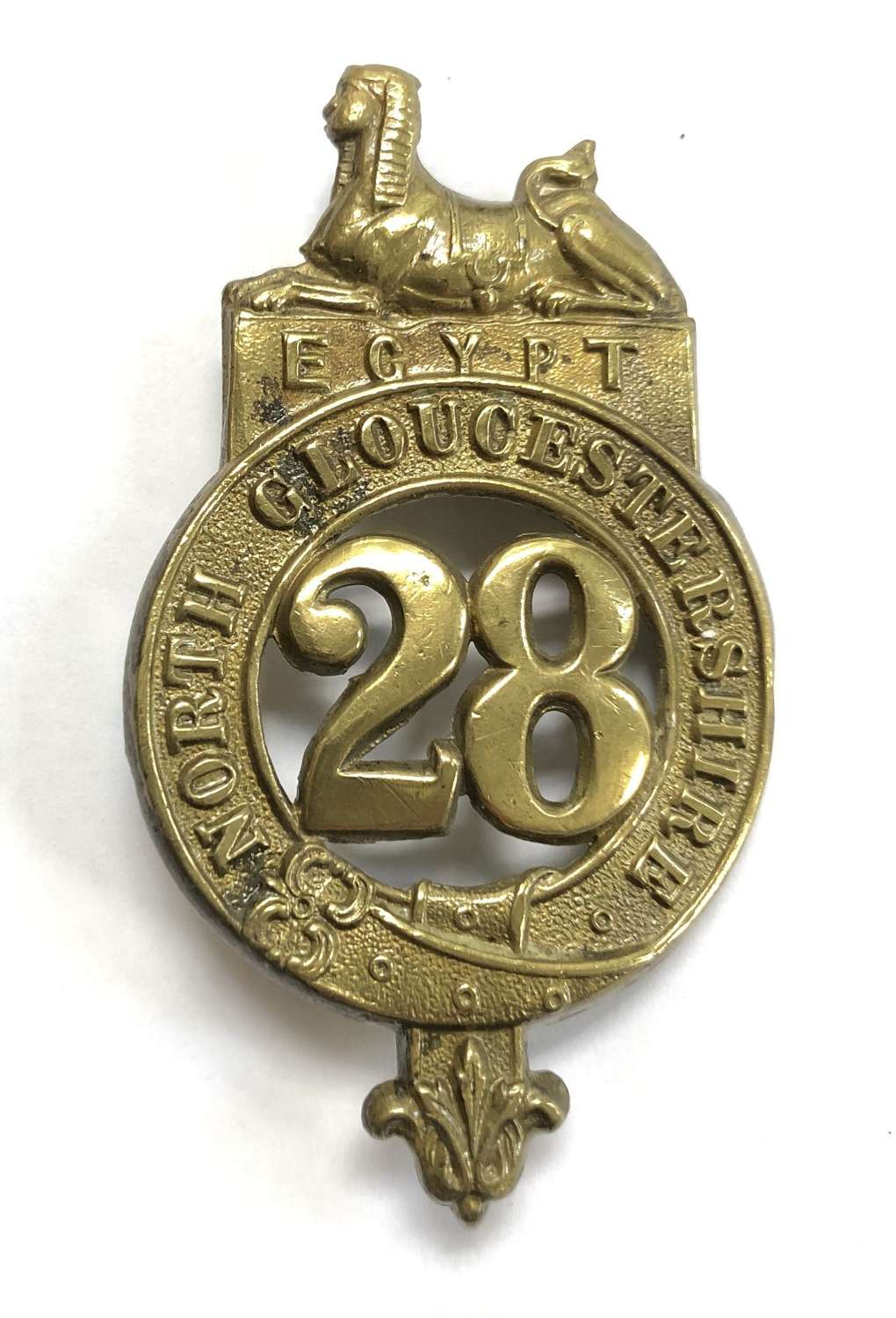 28th (North Gloucestershire) Foot Victorian OR's glengarry badge