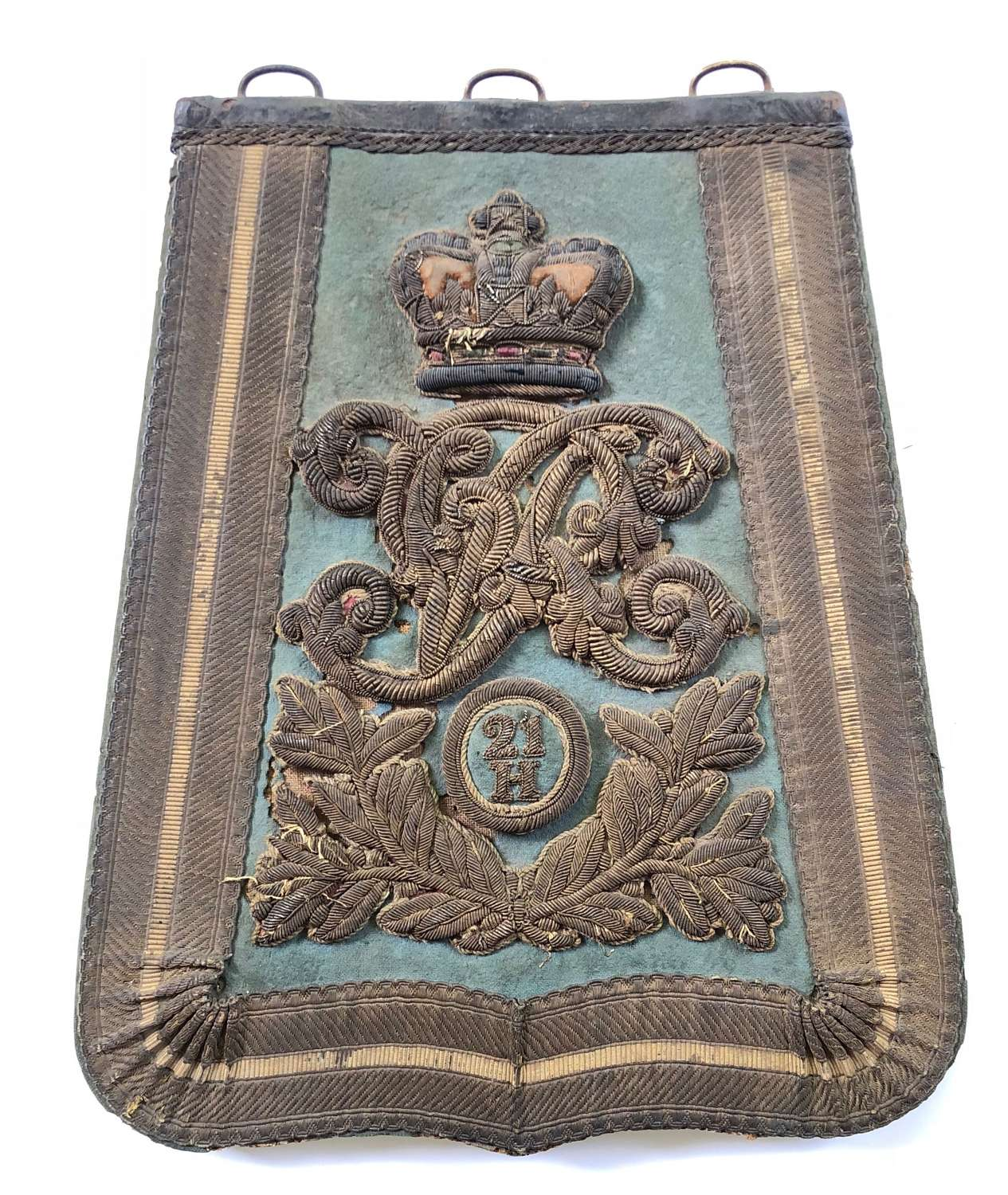 21st Hussars Victorian Officer's Full Dress Sabretache c1861-97.
