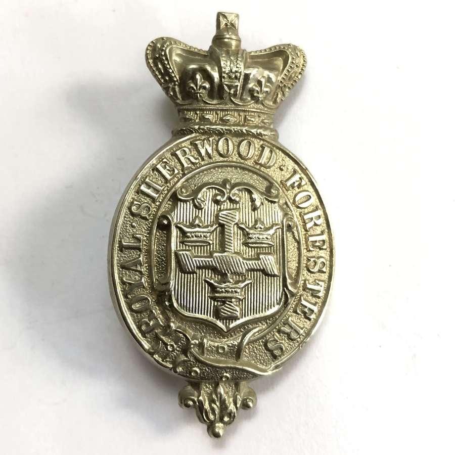 Royal Sherwood Foresters Victorian militia glengarry badge c1874-81