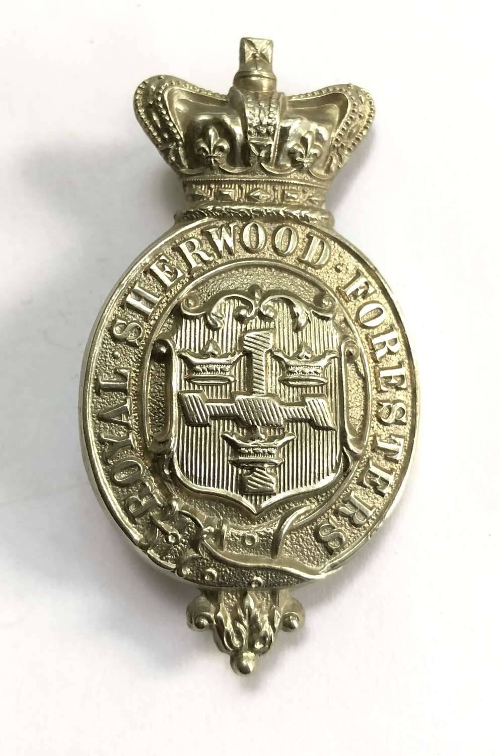 Royal Sherwood Foresters Victorian militia glengarry badge c1874-81
