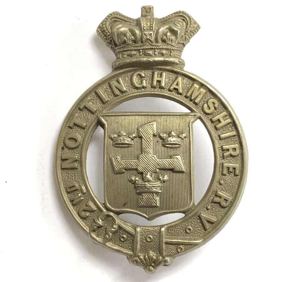 2nd Nottinghamshire Rifle Volunteers Victorian glengarry badge