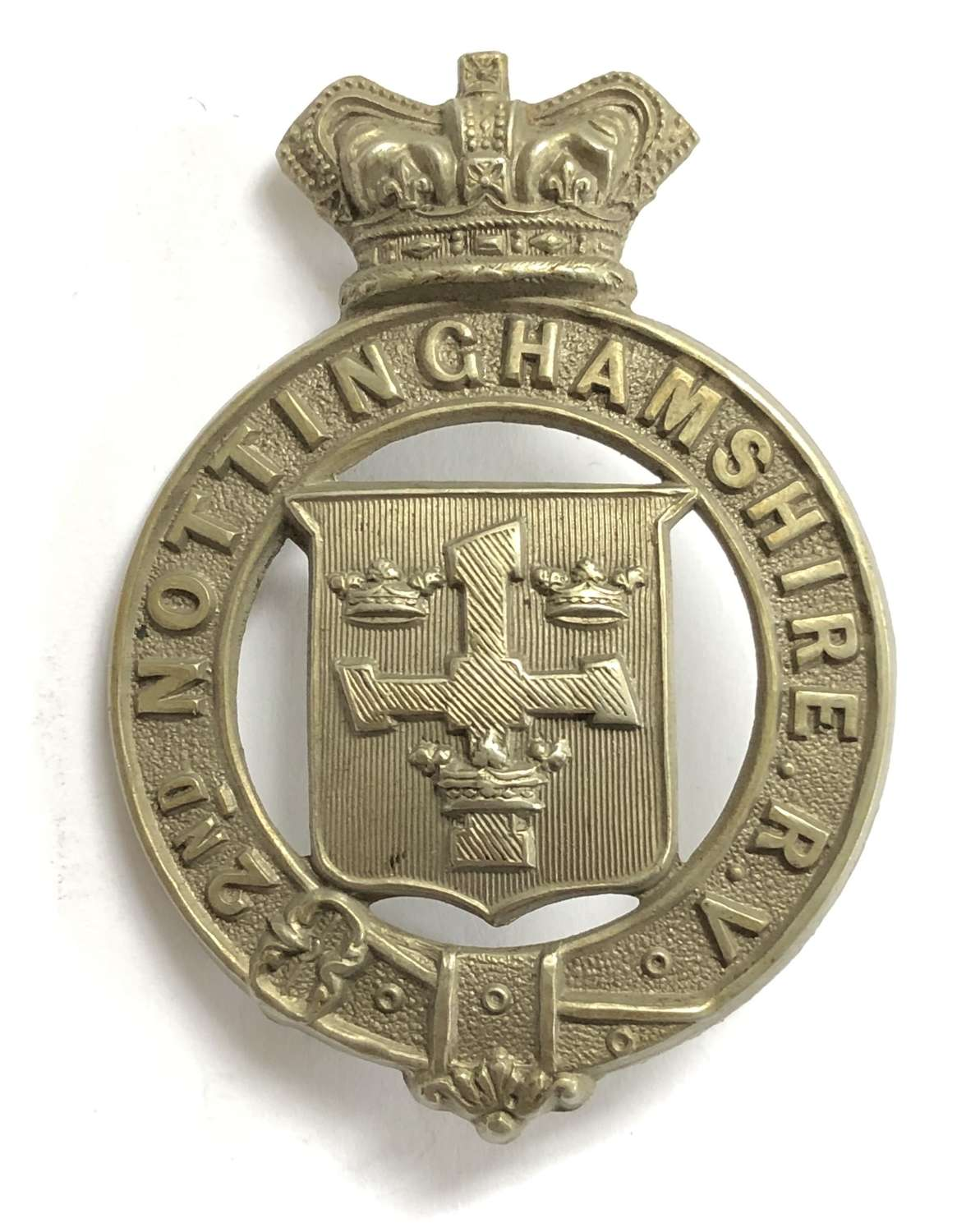 2nd Nottinghamshire Rifle Volunteers Victorian glengarry badge
