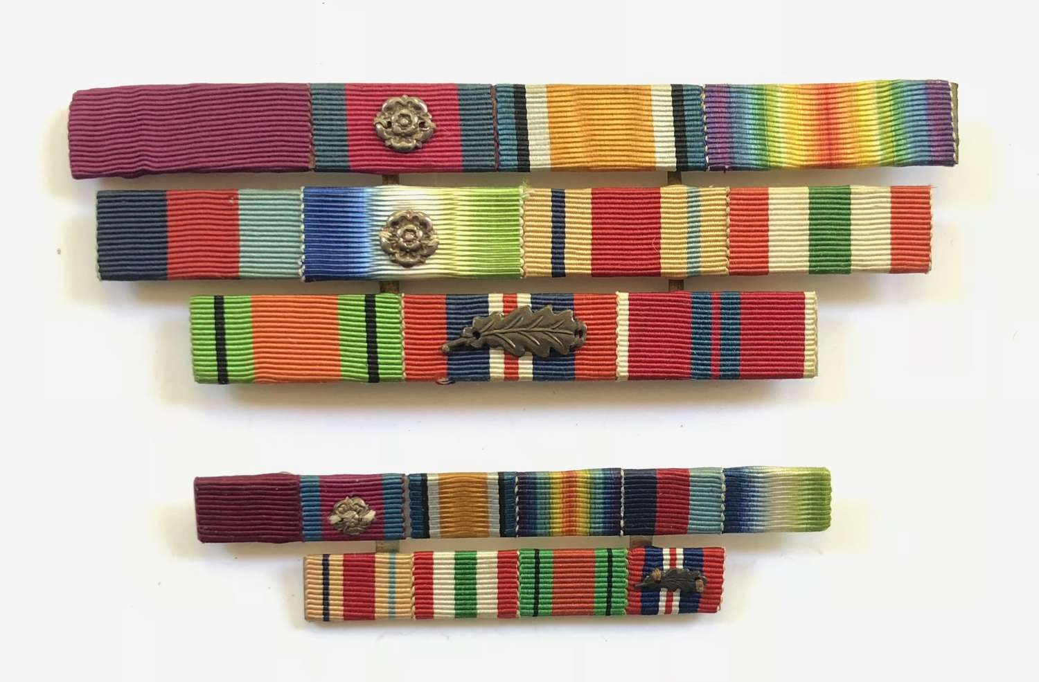WW1 / WW2 CB., DSO., Uniform Medal Ribbon Bars.