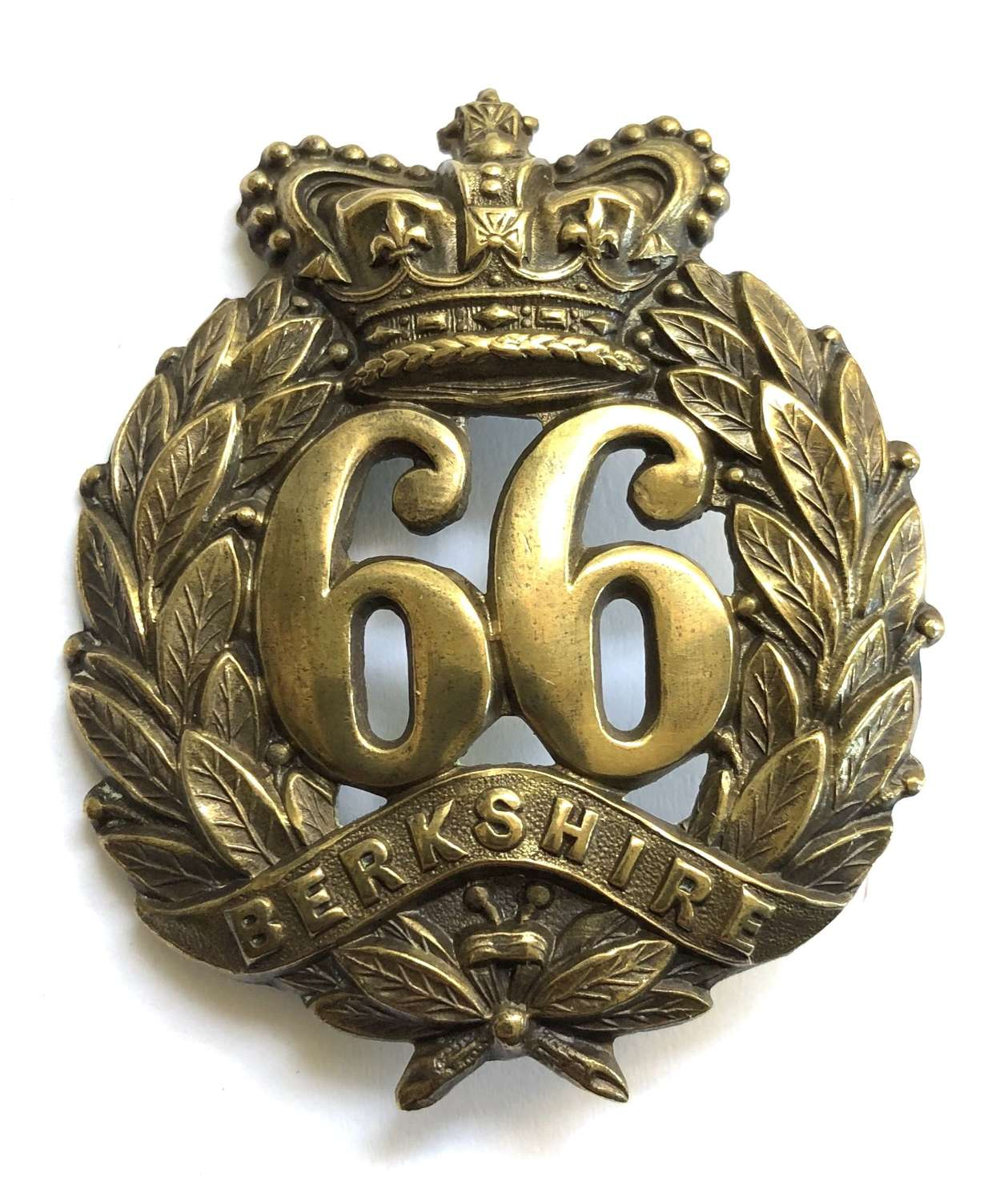 66th (Berkshire) Regiment of Foot Victorian OR's glengarry badge