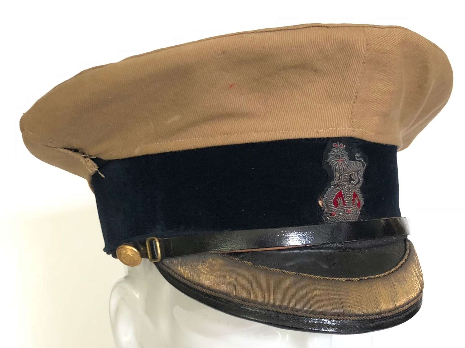 Edwardian Indian Medical Service Officer's Peaked Forage Cap.