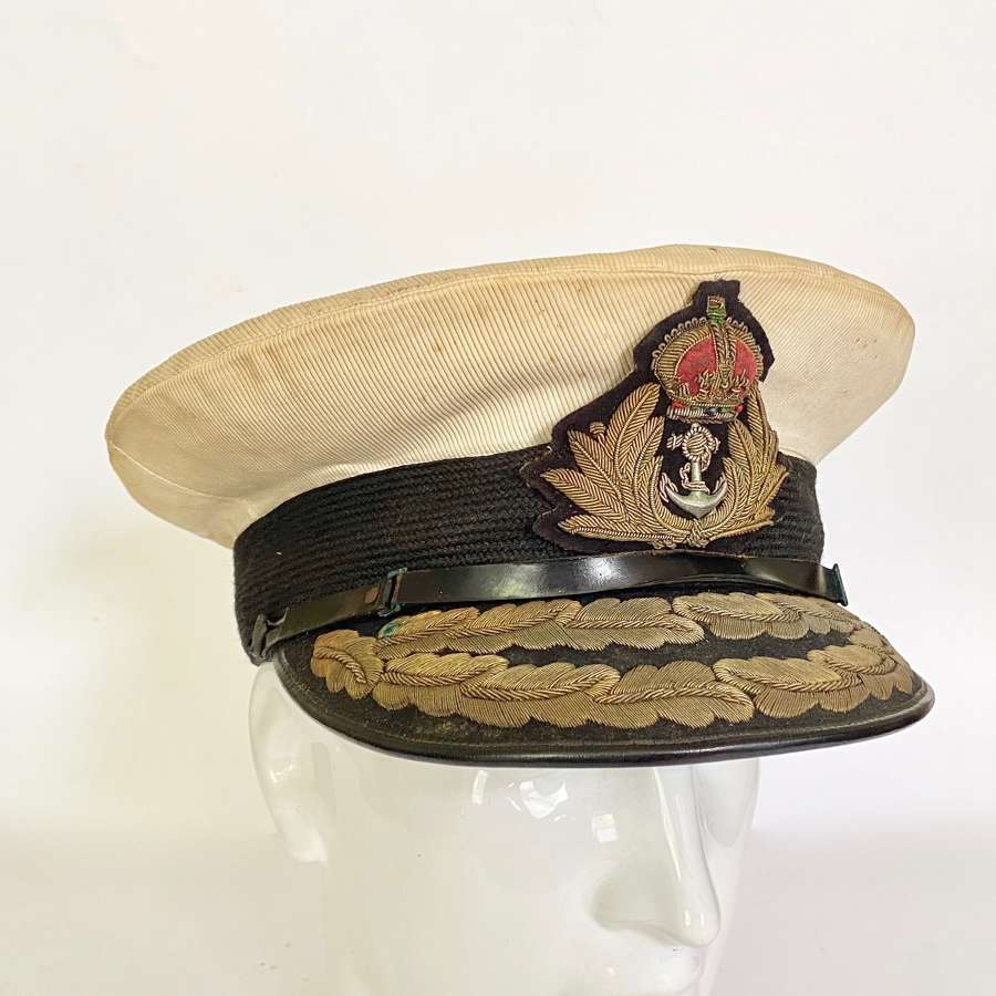 WW2 Royal Navy Flag Officers Cap.
