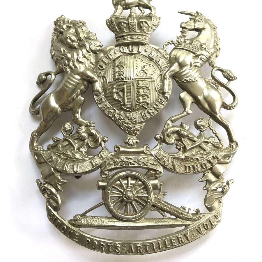 Cinque Ports Artillery Volunteers Victorian helmet plate c1878-1901