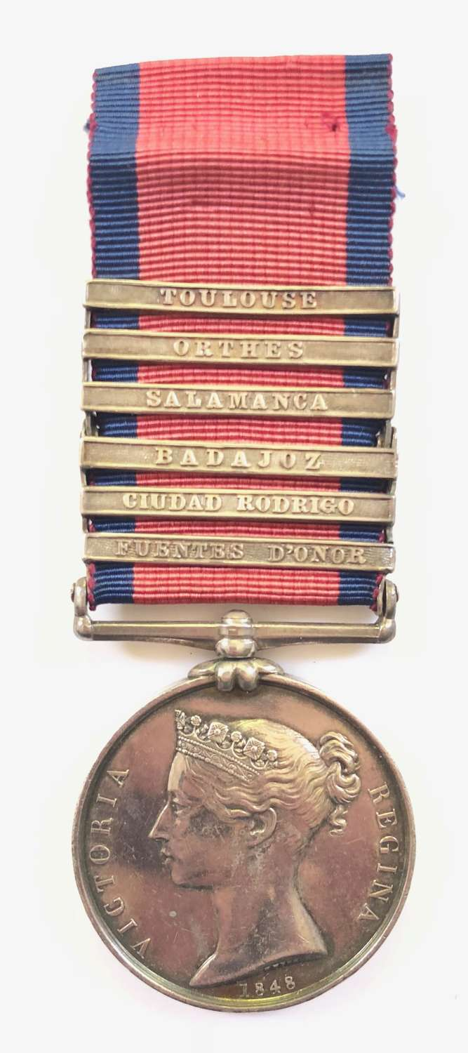 94th Foot (Connaught Rangers) Military General Service Medal 6 Clasps