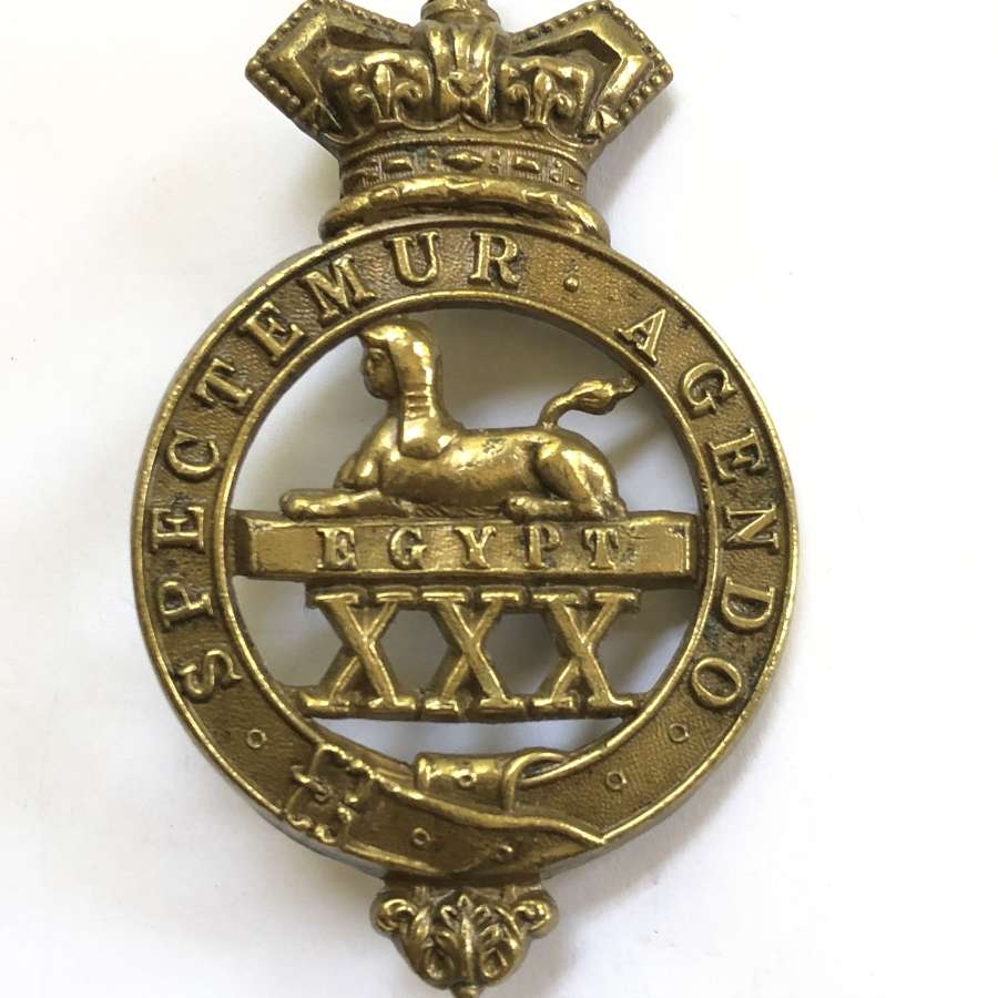 30th (Cambridgeshire) Regiment of Foot Victorian OR's glengarry badg
