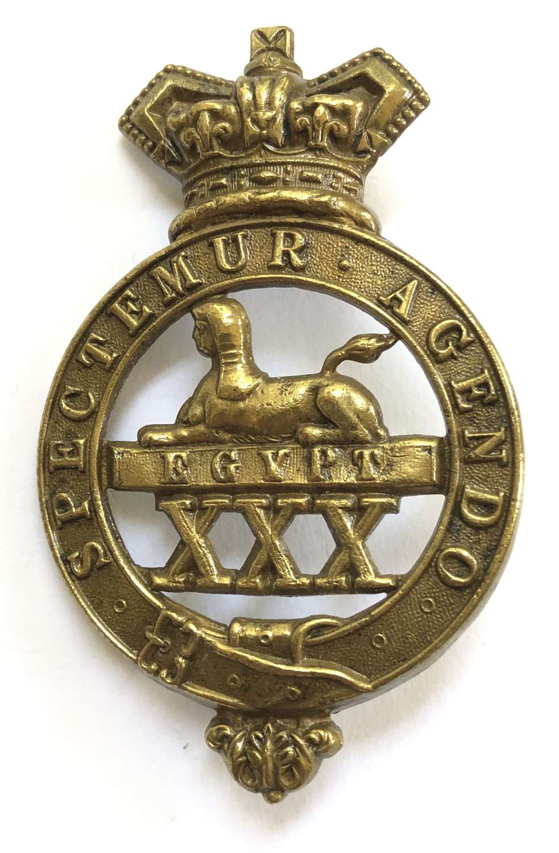 30th (Cambridgeshire) Regiment of Foot Victorian OR's glengarry badg