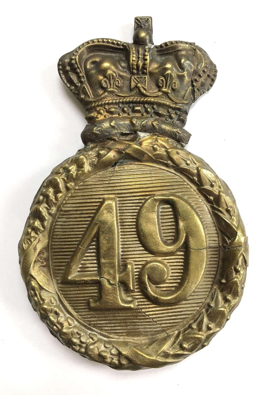 Regiment of Foot Albert Crimean War shako plate c1839-55