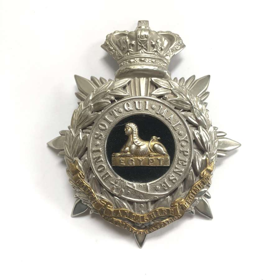 1st VB South Lancashire Regiment Victorian Officer's helmet plate