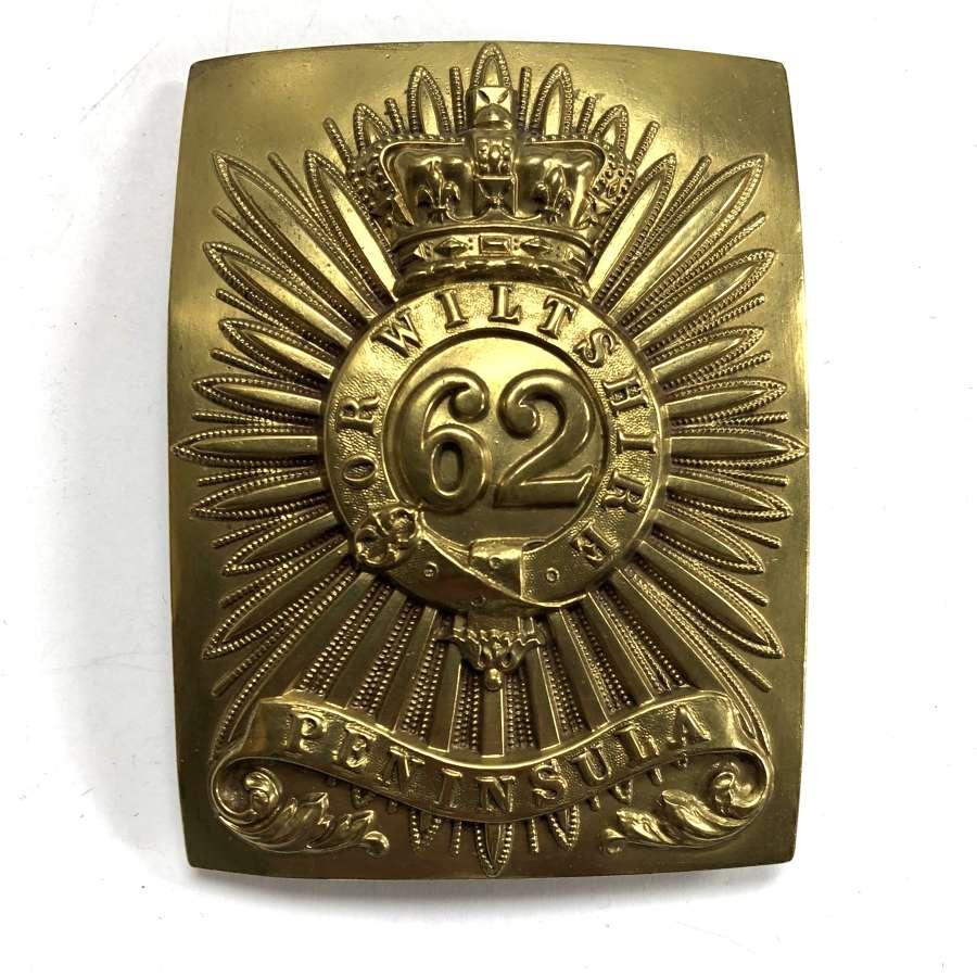 62nd (Wiltshire) Regiment of Foot Crinean War shoulder belt plate