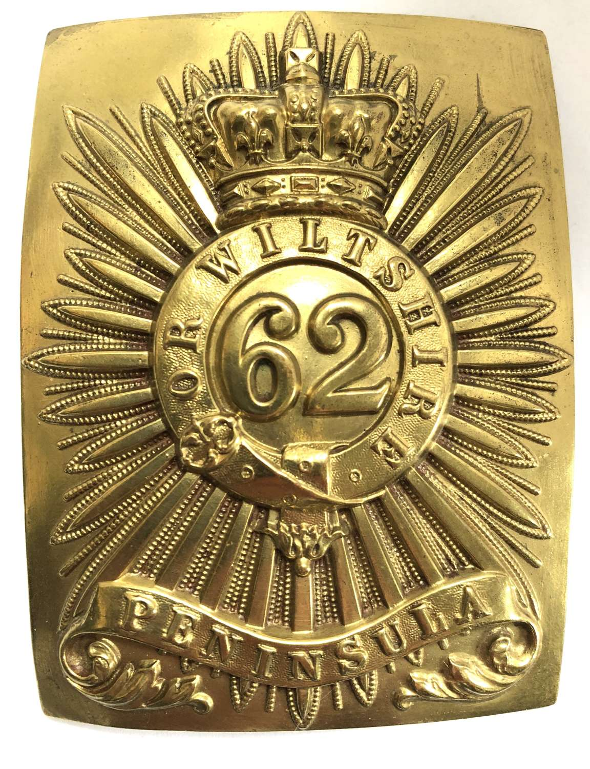 62nd (Wiltshire) Regiment of Foot Crinean War shoulder belt plate