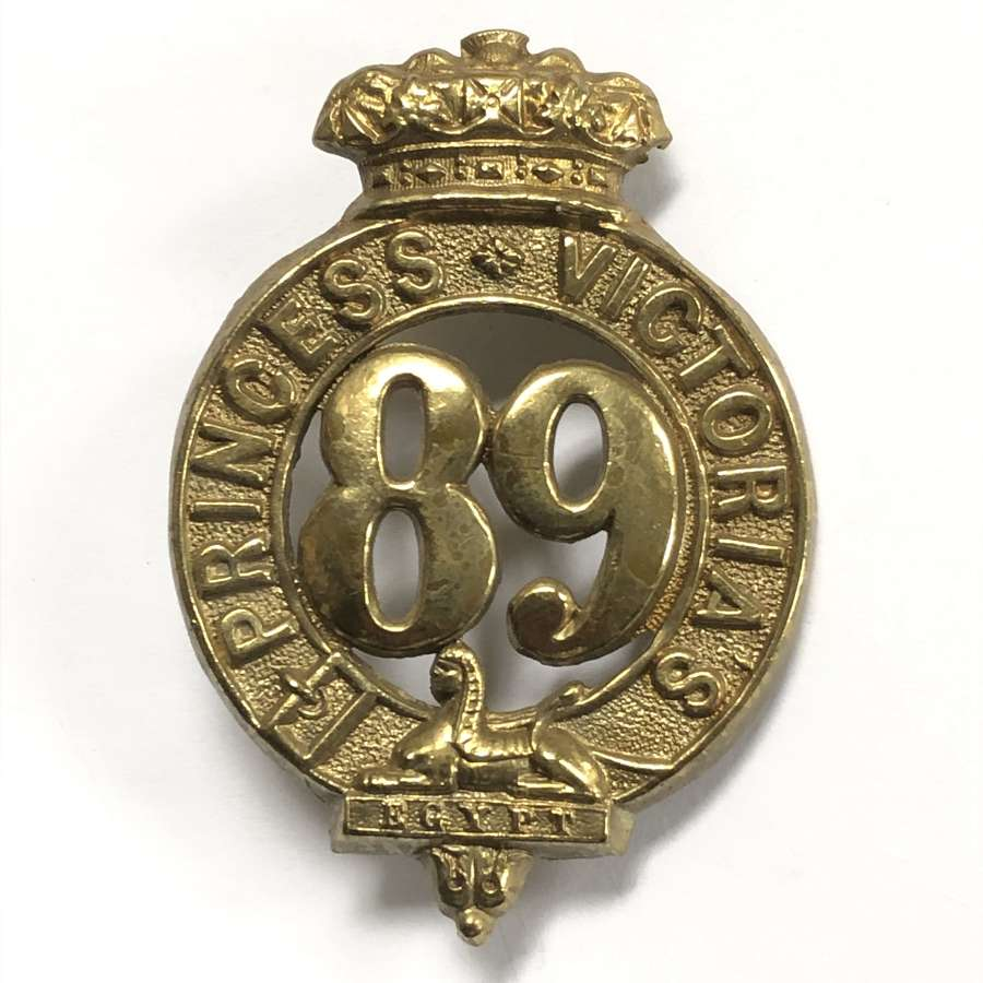 Irish. 89th Foot (Princes Victoria's) glengarry badge circa c1874-81