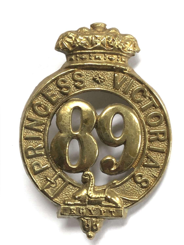 Irish. 89th Foot (Princes Victoria's) glengarry badge circa c1874-81