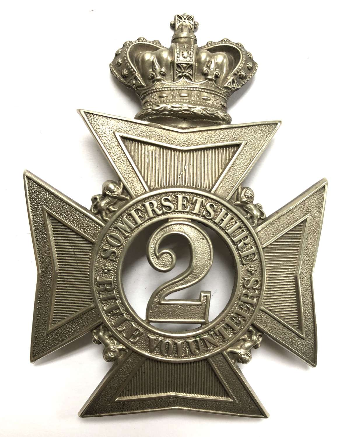 2nd Somersetshire Rifle Vos Victorian Officer's pouch belt plate