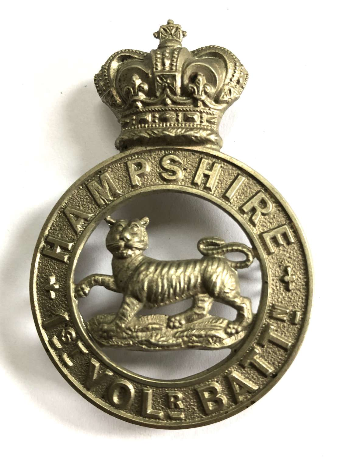 1st VB Hampshire Regiment Victorian OR's glengarry badge c1885-96