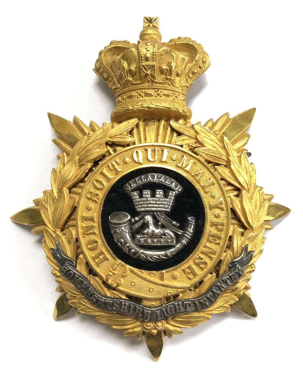 PA Somerset Light Infantry Victorian Officer's helmet plate