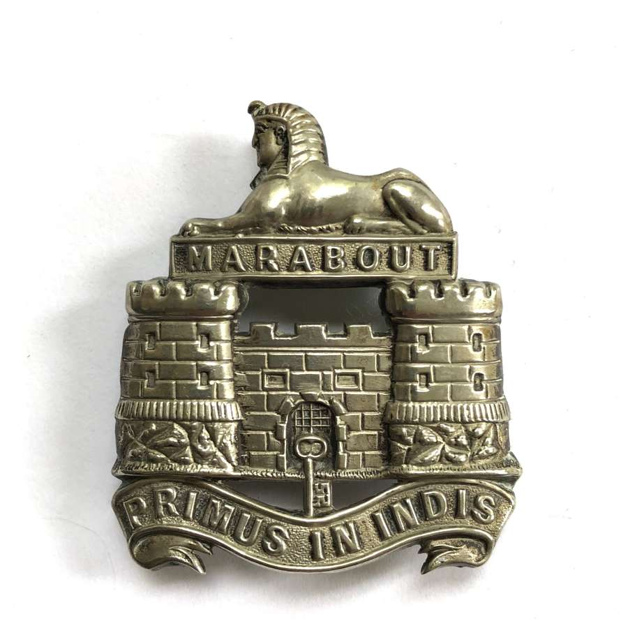 Dorsetshire Regiment post 1894 Victorian Officer's forage cap badge