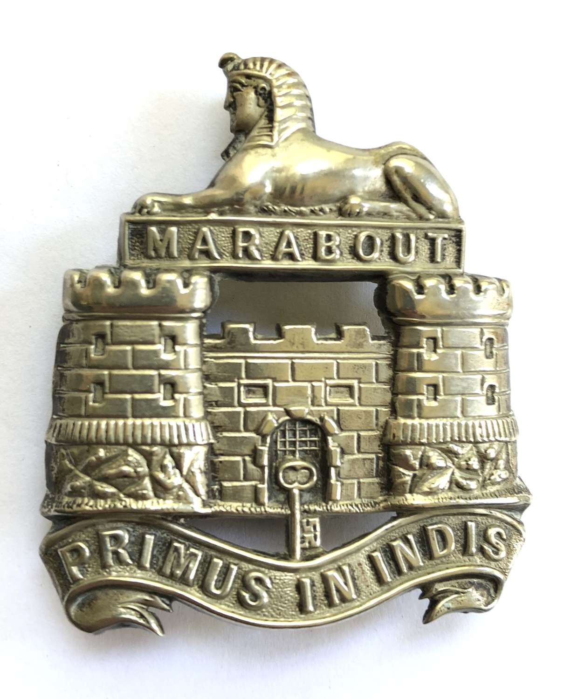 Dorsetshire Regiment post 1894 Victorian Officer's forage cap badge