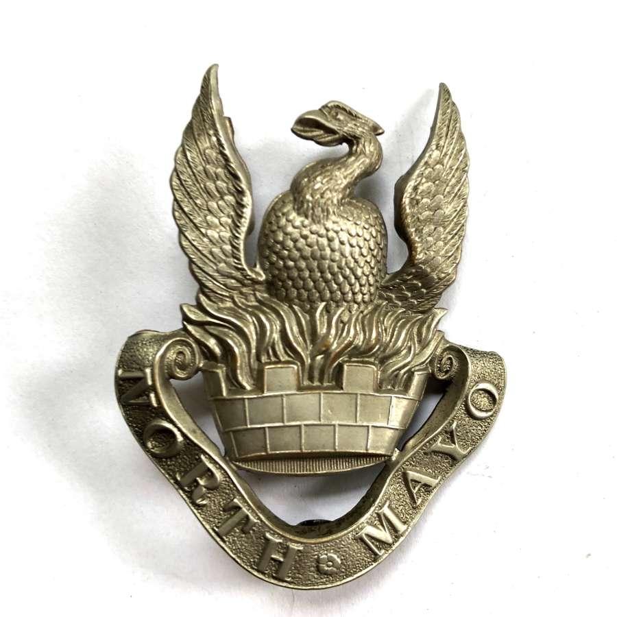 North Mayo Fusiliers Militia Victorian glengarry badge c1874-81