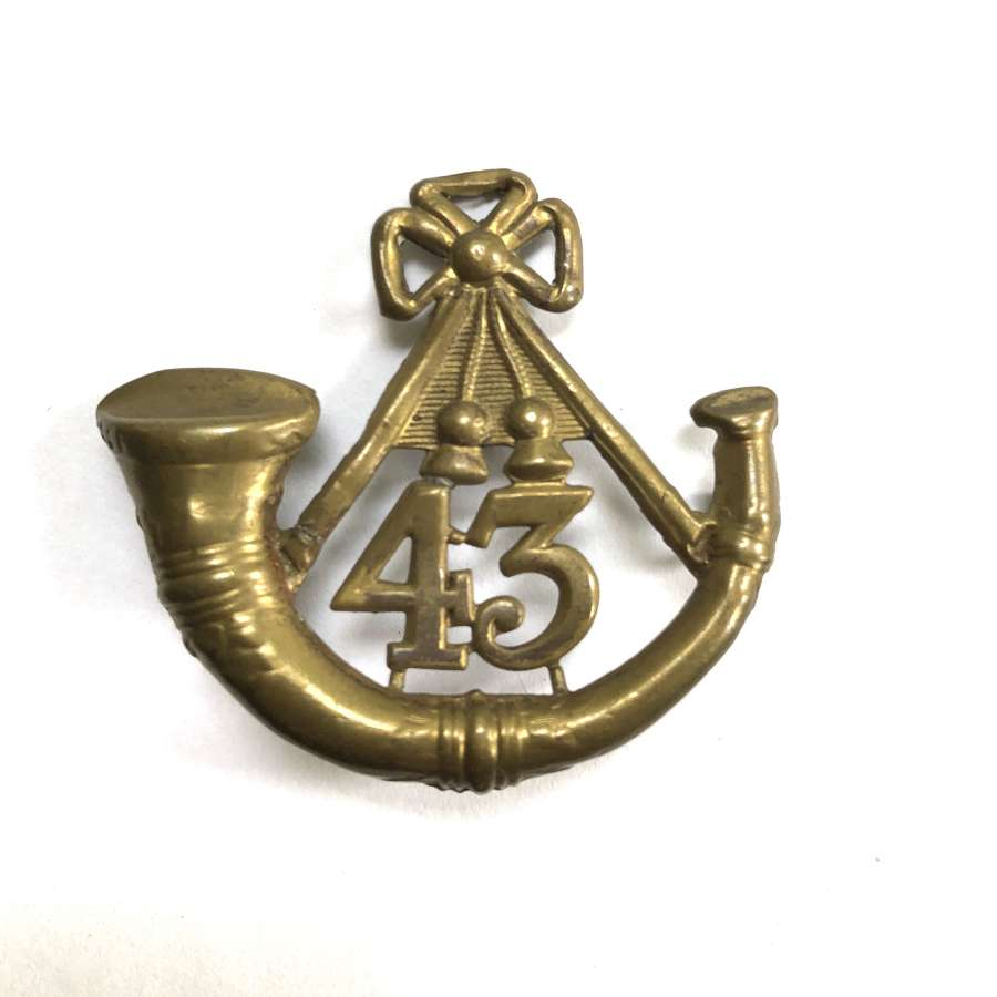 43rd (Monmouthshire Light Infantry) Regiment glengarry badge c1874-81